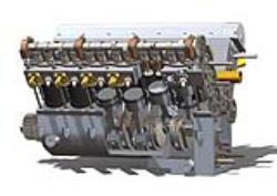 مدل آماده موتور 12 سیلندر V شکل